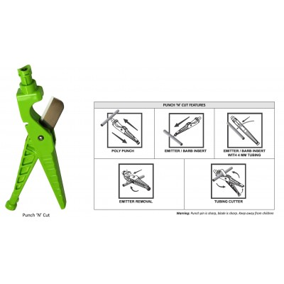 二合一PE管裁管刀+打孔器(綠色/4mm) ANTELCO