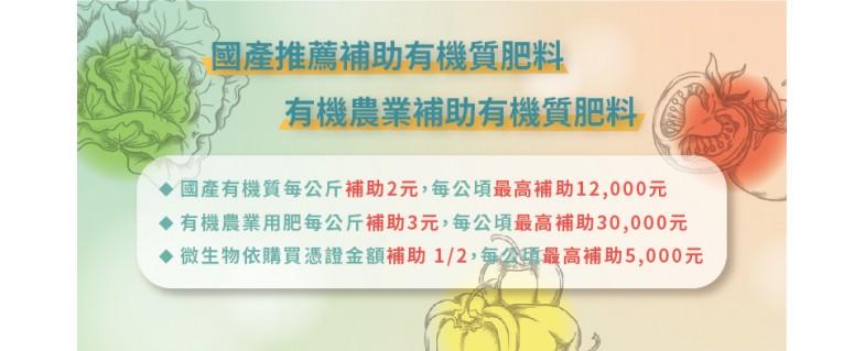 農糧署官網公告有機肥料推薦名單